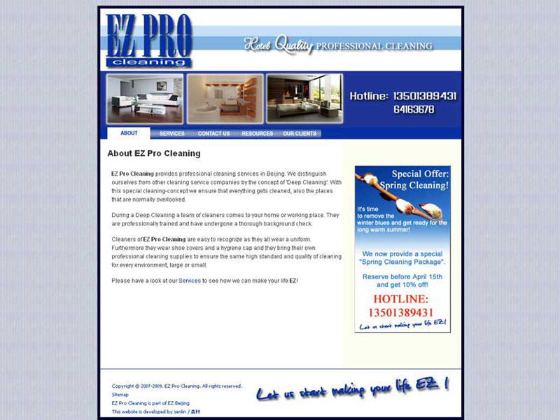 New website for EZ Pro Cleaning   BHI Consulting for Websites